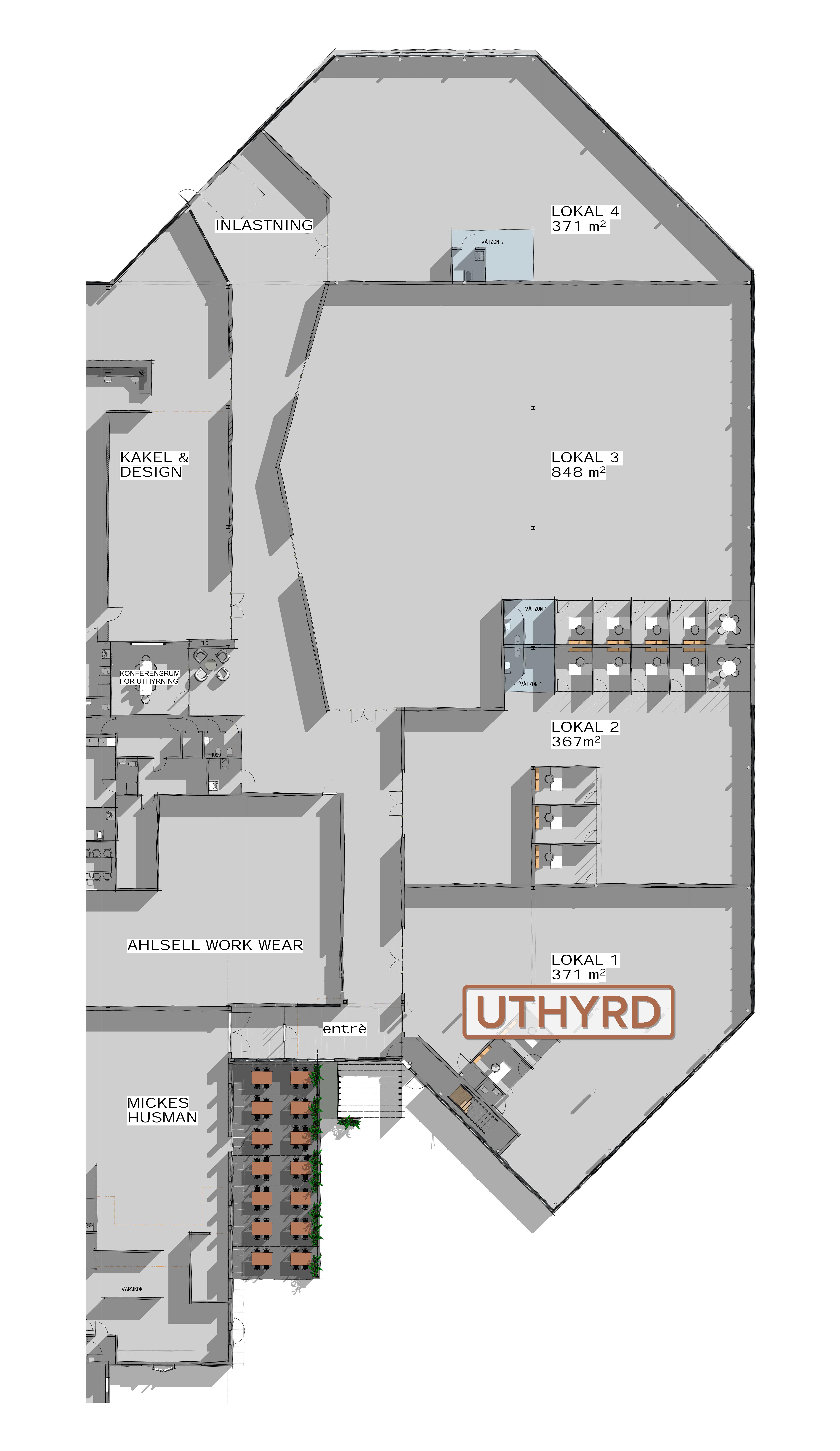 Planritning över T9